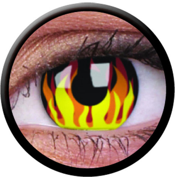 ColourVue Crazy šošovky - Flame Hot (2 ks ročné) - nedioptrické - exp.02/2021