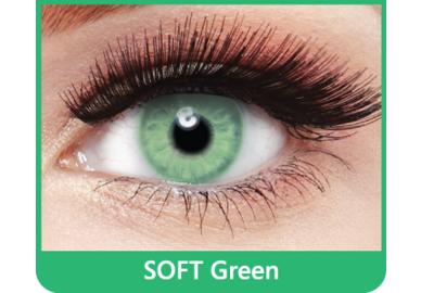 SoftColours - Green (2 mesačné šošovky) - nedioptrické