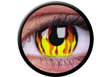 ColourVue Crazy šošovky - Flame Hot (2 ks trojmesačné) - nedioptrické - exp.09/21