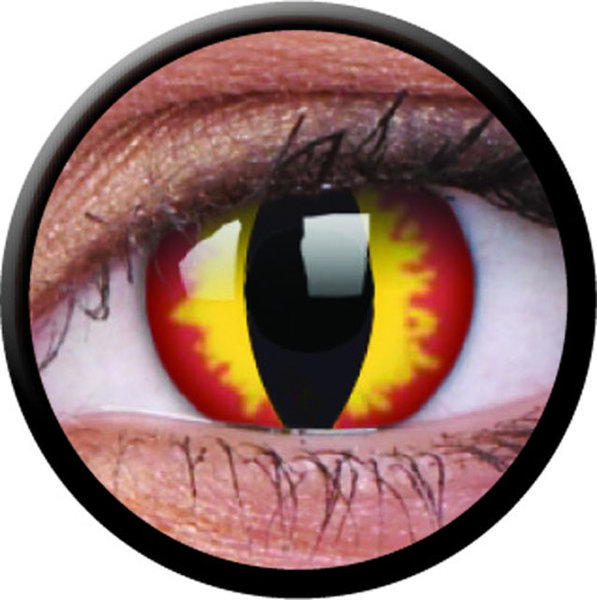 ColourVue Crazy šošovky - Dragon Eyes (2 ks jednodenné) - nedioptrické - Výpredaj - EXP. 07/21