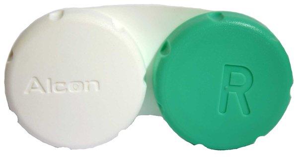 Puzdro na kontaktné šošovky zeleno-biele