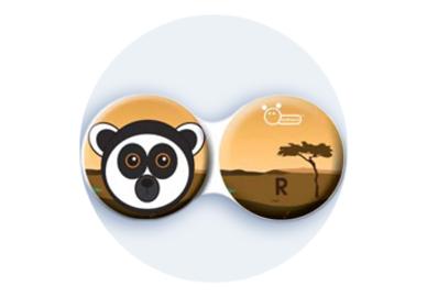 Antibakteriálne puzdro klasické - Afrika - Lemur