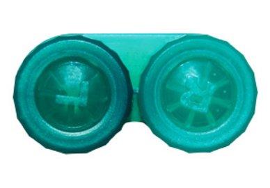 Púzdro klasické jednofarebné - Tm. Zelené