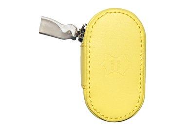 Kožené púzdro so zrkadielkom - Žlté