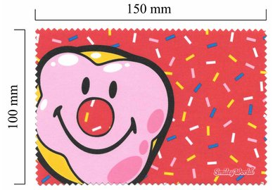 Handričku na okuliare z mikrovlákna Smiley - klaun
