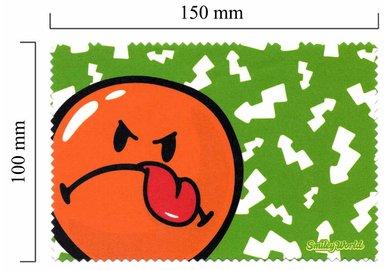 Handričku na okuliare z mikrovlákna Smiley - Smiley zelené
