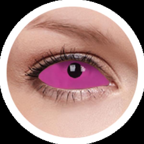 ColourVue Crazy šošovky UV Sklerálne - Radien Pink (2 ks polročné) - nedioptrické