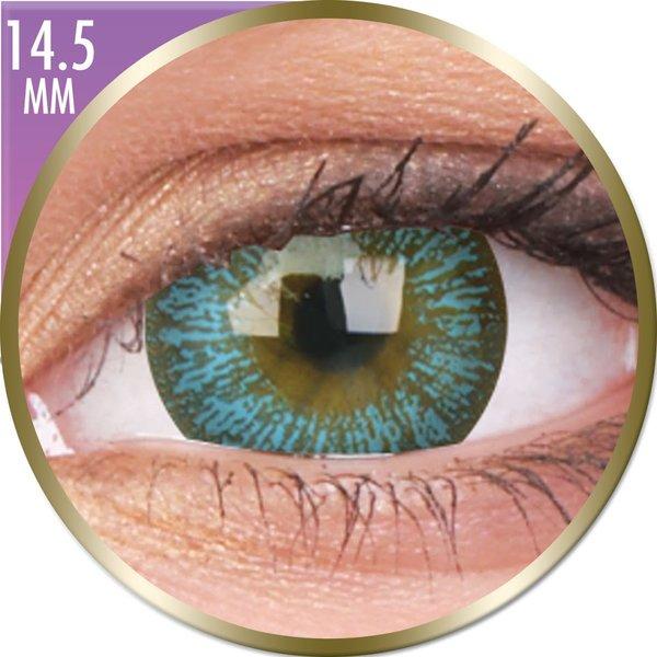 Phantasee Big Eyes - Maya Blue (2 šošovky mesačné) - dioptrické