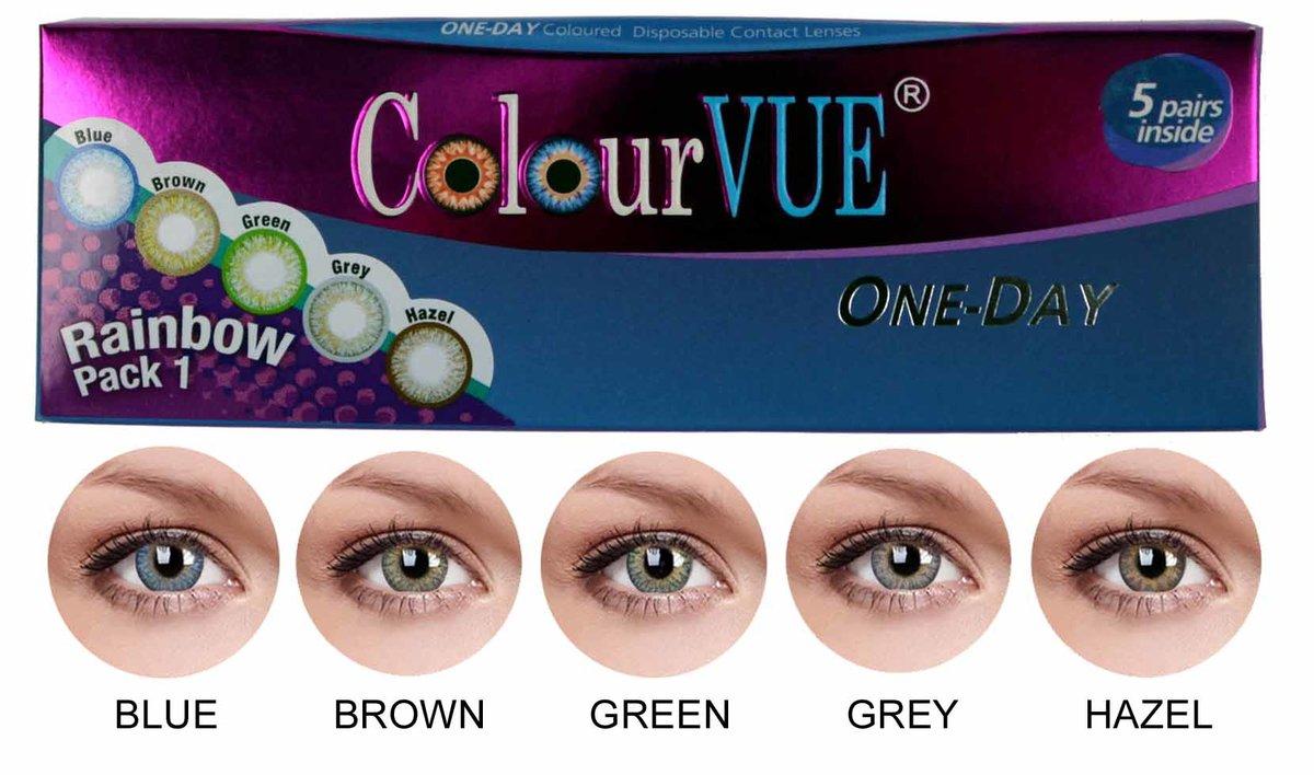 1723a5339 ColourVue Trublends One-Day Rainbow Pack1 - (5 párov farebných šošoviek) -  nedioptrické