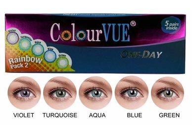 ColourVue Trublends One-Day Rainbow Pack2 - (5 párov farebných šošoviek) - nedioptrické