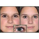 Původní barva očí - hnědo zelená