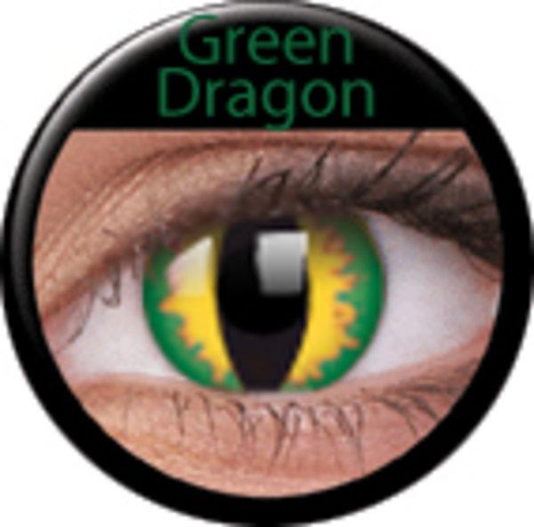 ColourVue Crazy šošovky - Green dragon (2 ks trojmesačné) - nedioptrické - exp.11/2016